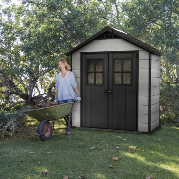 Keter Oakland 7.5'x4' Shed - In Use