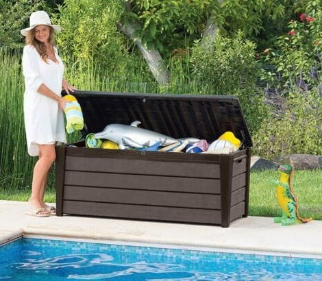 Keter Storage Box - Sherwood 270L - By Pool