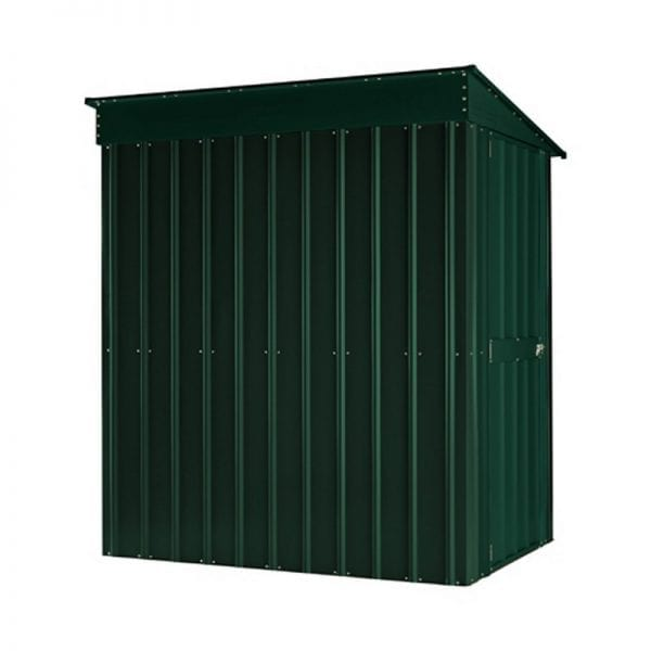 Lean To Shed - 4x6 Green Metal Lotus - Back