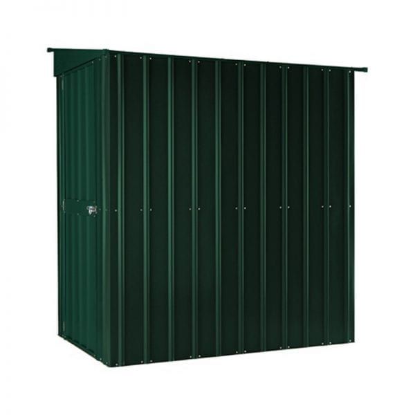 Lean To Shed - 4x6 Green Metal Lotus - Side