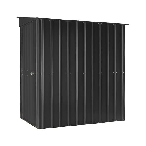 Lean To Shed - 4x8 Black Metal Lotus - Side