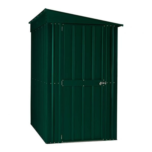 Lean To Shed - 4x8 Green Metal Lotus 1