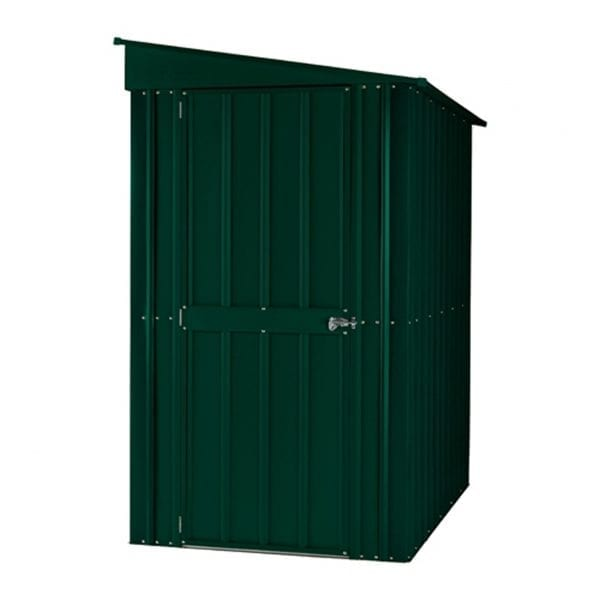 Lean To Shed - 4x8 Green Metal Lotus