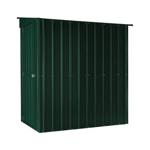 Lean To Shed - 4x8 Green Metal Lotus - Side