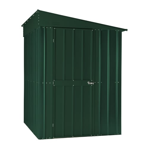 Lean To Shed - 5x8 Green Metal Lotus 1