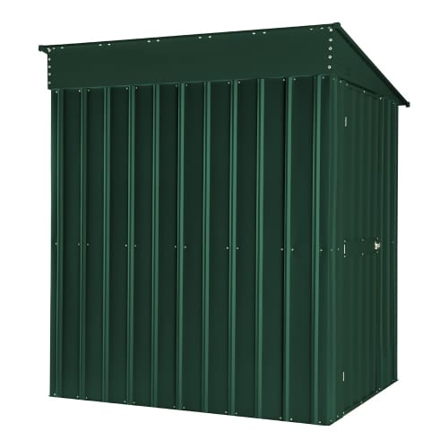 Lean To Shed - 5x8 Green Metal Lotus - Back