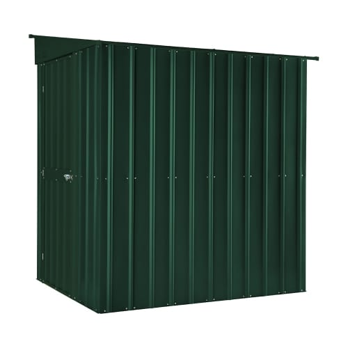 Lean To Shed - 5x8 Green Metal Lotus - Side