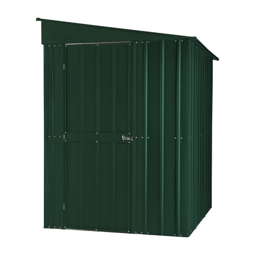 Lean To Shed - 5x8 Green Metal Lotus