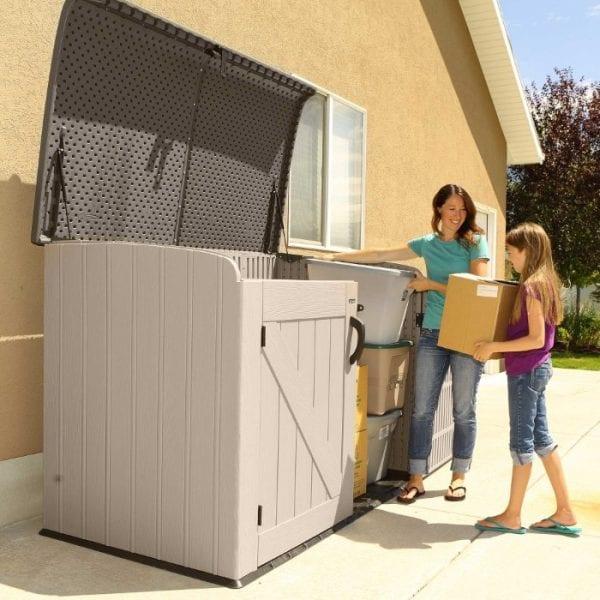 Lifetime 6'x3.5' Plastic Storage Box - Additional Storage