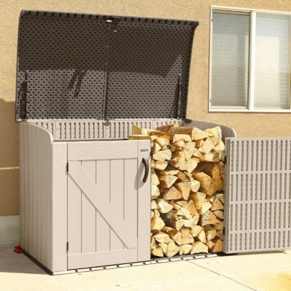 Lifetime 6'x3.5' Plastic Storage Box - Log Store