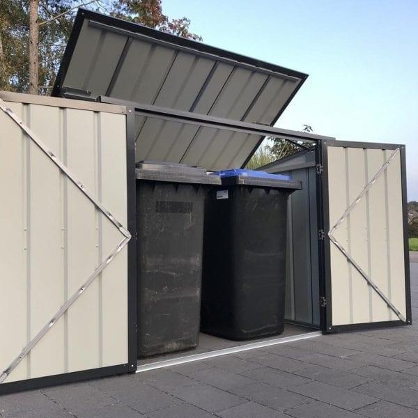 Metal Bin Store - 5x3 Lotus -In Situ Fully Open