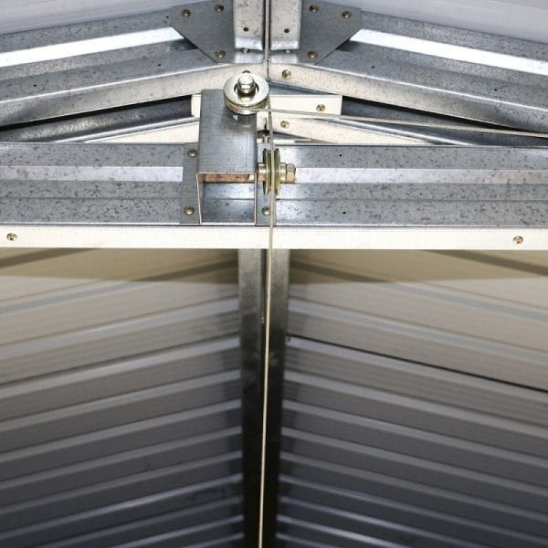 Metal Garage - Black Sapphire Garage - Door Lifting System