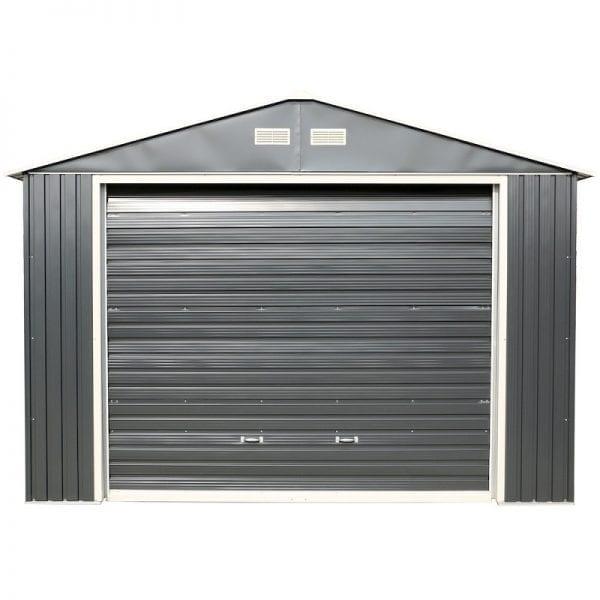 Metal Garage - Black Sapphire Garage - Front