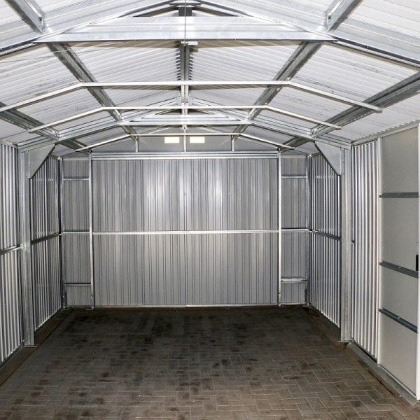 Metal Garage - Black Sapphire Garage - Inside Garage