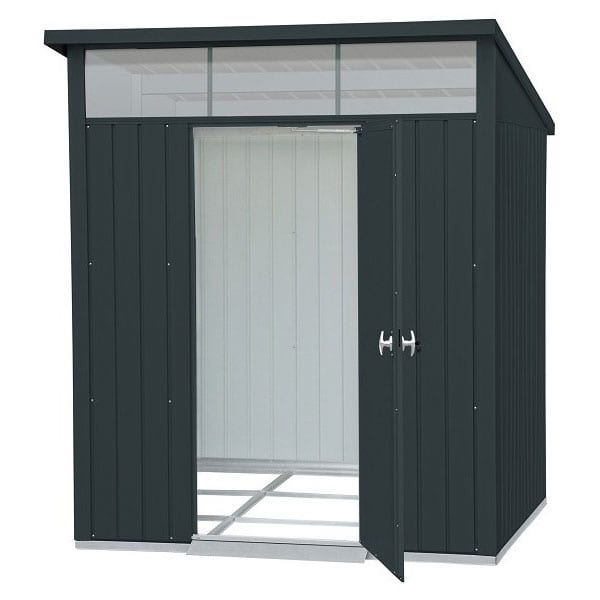 Metal Garden Shed Falcon 6'x5' - Front Open