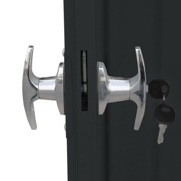 Metal Garden Shed Falcon 6'x5' - Handles & Key