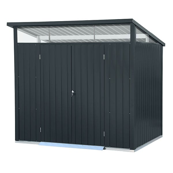 Metal Garden Shed Falcon 8'x6' Double - Front Closed