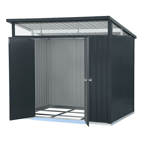 Metal Garden Shed Falcon 8'x6' Double - Front Open