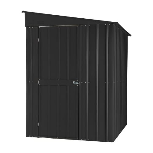 Metal Lean To Shed - 5x8 anthracite grey Lotus - Front