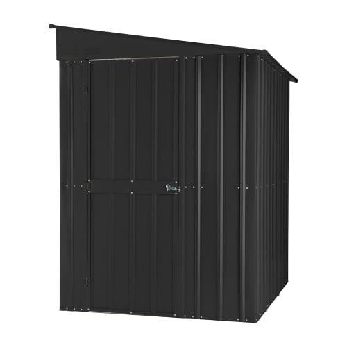 Metal Lean To Shed - 5x8 Black Lotus - Front