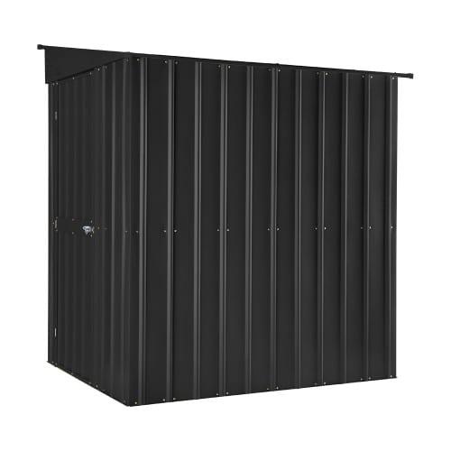 Metal Lean To Shed - 5x8 Black Lotus - Side