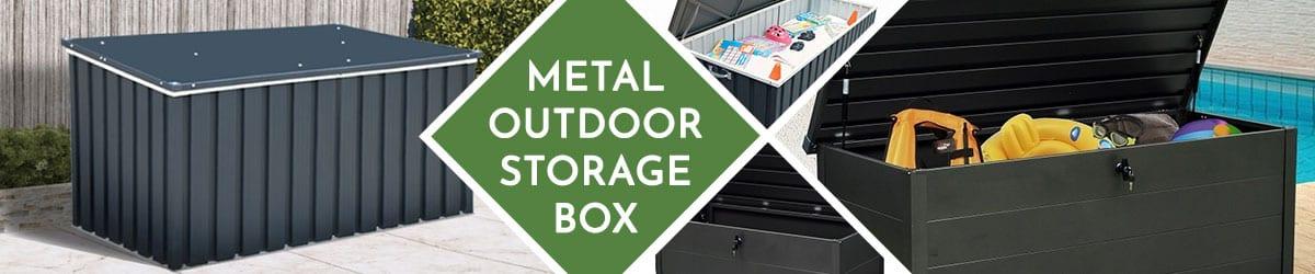 Metal Outdoor Storage Box | Metal Garden Storage