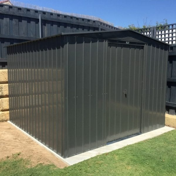 Metal Shed 10x12 - Black Lotus Apex - In Situ