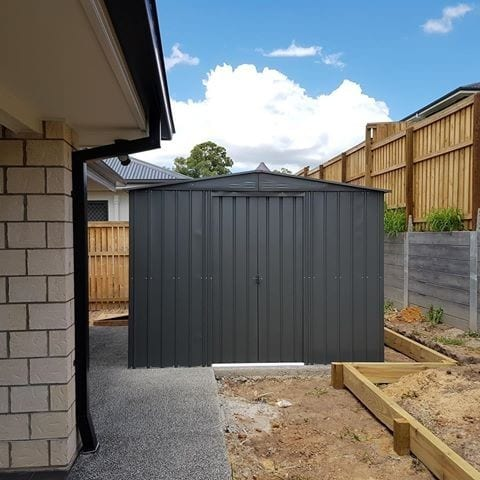 Metal Shed 10x12 - Black Lotus Apex - Installed
