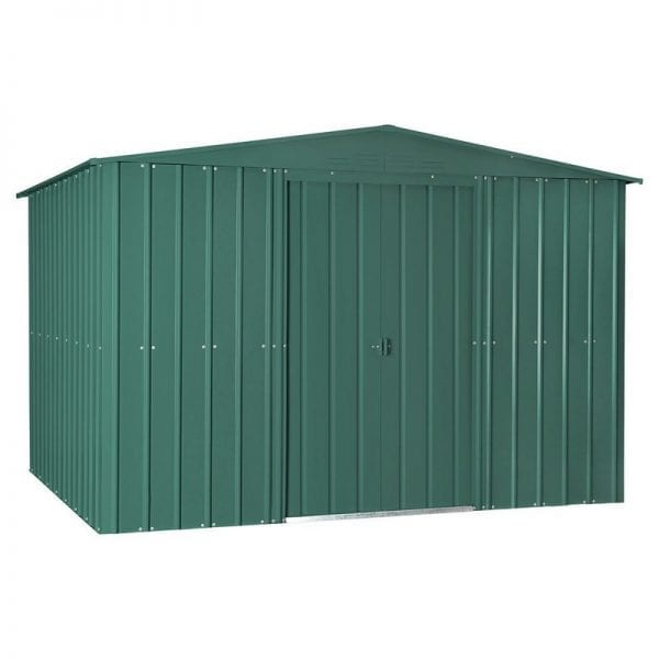 Metal Shed - 10x12 Green Lotus - Doors Closed
