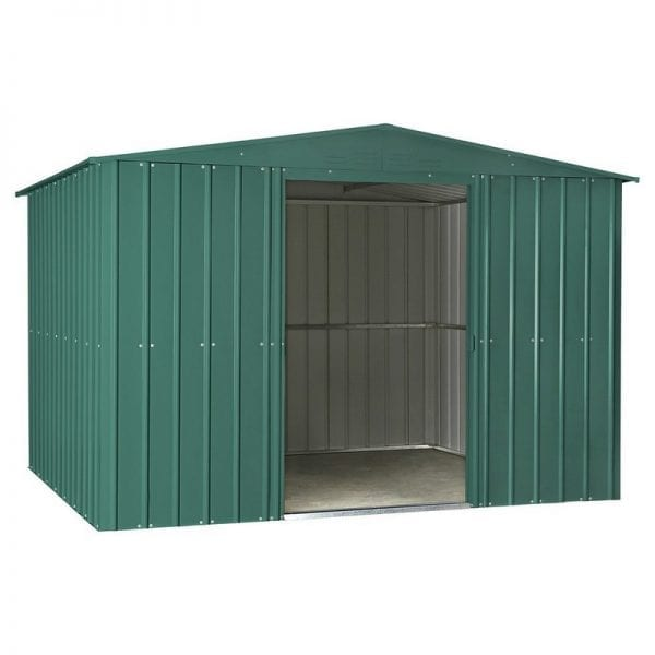 Metal Shed - 10x12 Green Lotus - Doors Open