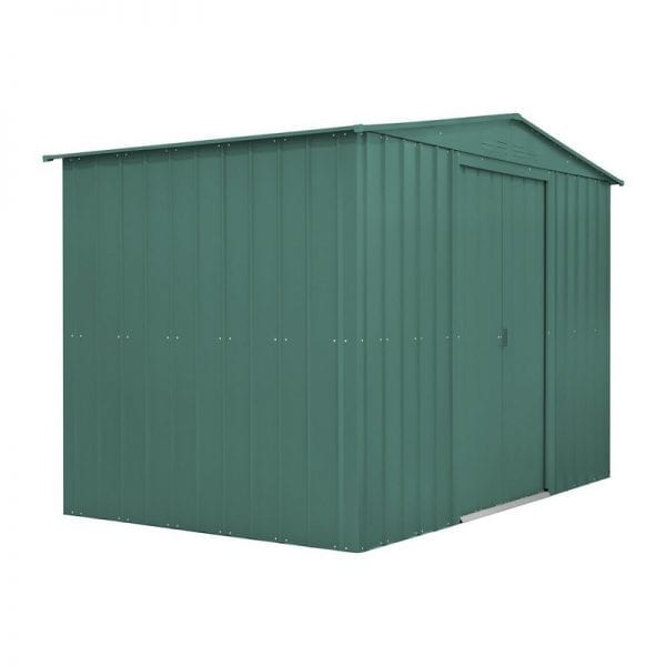Metal Shed - 10x12 Green Lotus - Side