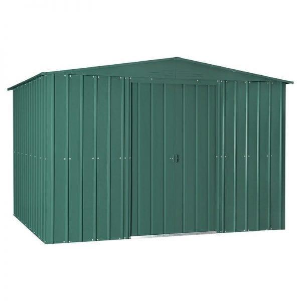 Metal Shed - 10x6 Green Lotus - Doors Closed