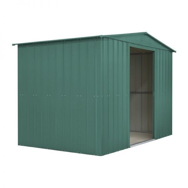Metal Shed - 10x6 Green Lotus - Side Open