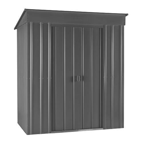 Metal Shed 5x3 - Black Lotus Pent- Doors Closed