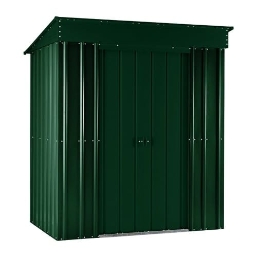 Metal Shed 5x3 - Green Lotus Pent- Doors Closed