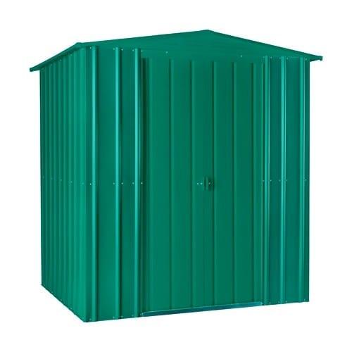 Metal Shed 6x3 - Green Lotus Apex - Doors Closed