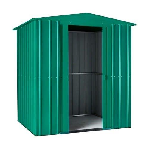 Metal Shed 6x3 - Green Lotus Apex - Doors Open