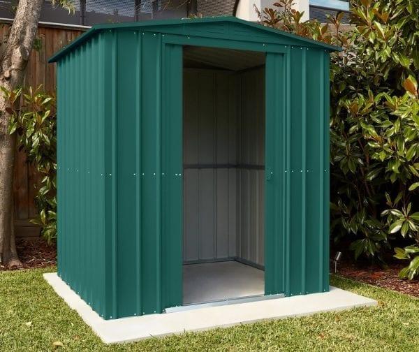 Metal Shed 6x3 - Green Lotus Apex - In Situ