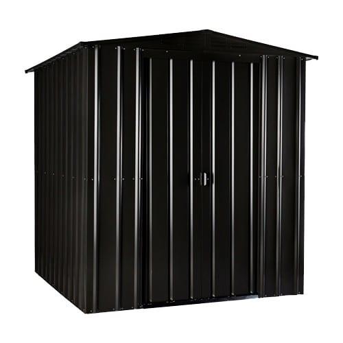 Metal Shed 6x4 - Black Lotus Apex - Closed