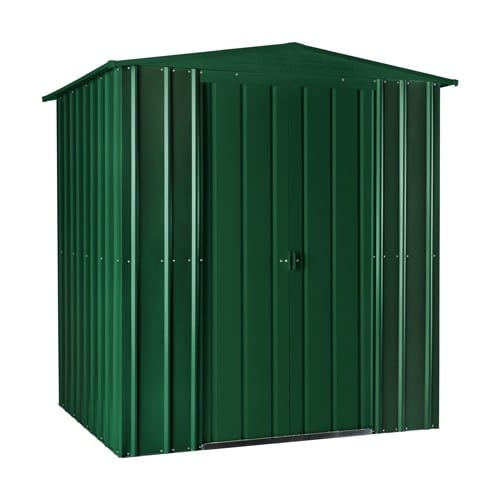 Metal Shed 6x4 - Green Lotus Apex - Doors Closed