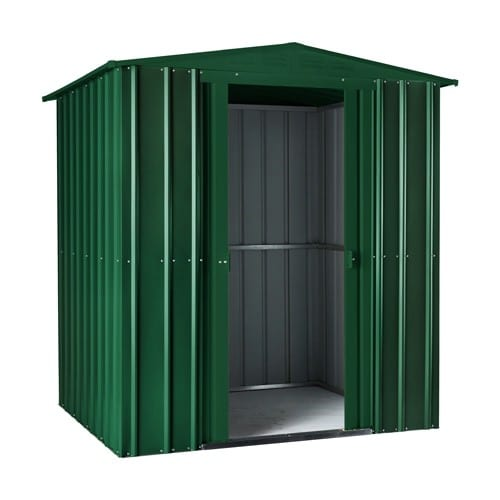 Metal Shed 6x4 - Green Lotus Apex - Doors Open