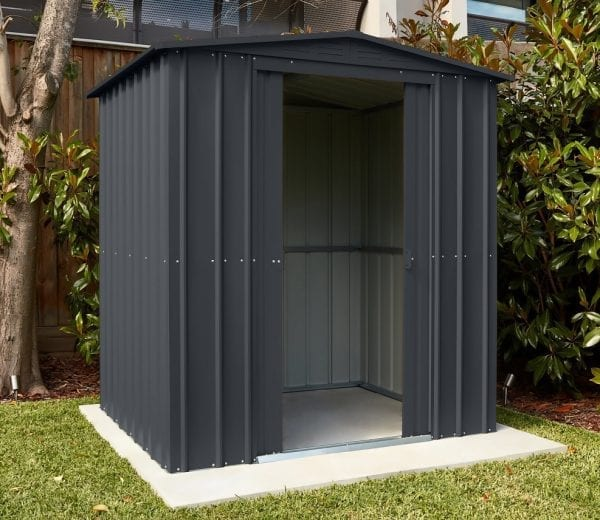 Metal Shed 6x5 - Black Lotus - Installed