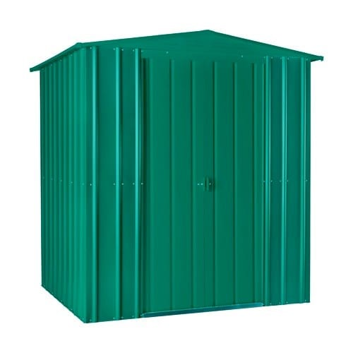 Metal Shed 6x8 - Green Lotus Apex - Closed
