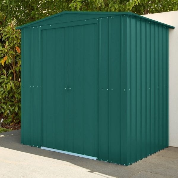 Metal Shed 6x8 - Green Lotus Apex - Installed