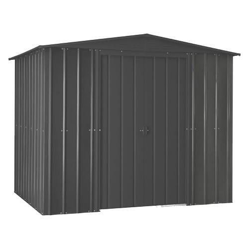 Metal Shed 8x3 - Black Lotus Apex - Doors Closed