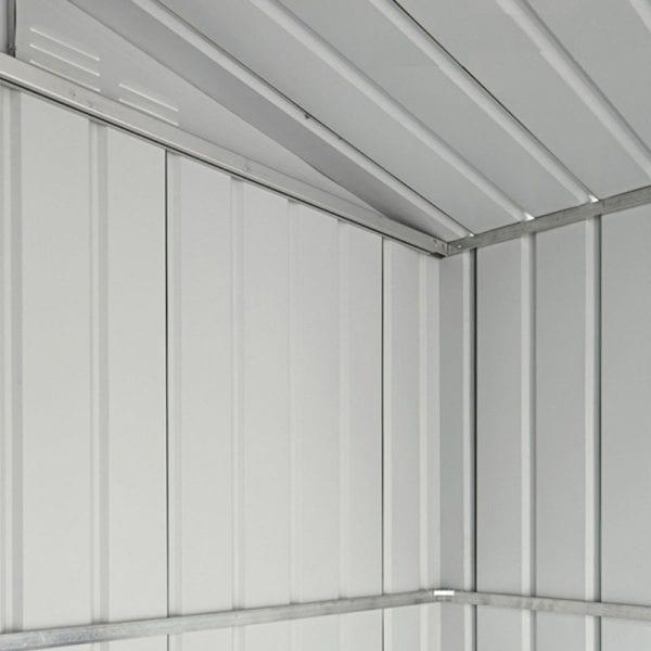 Metal Shed 8x3 - Black Lotus Apex - Inside Shed