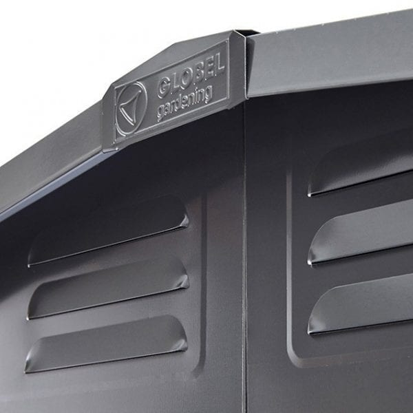 Metal Shed 8x3 - Black Lotus Apex - Roof And Vents