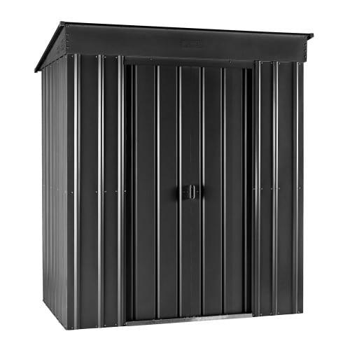 Metal Shed 8x4 - Black Pent Lotus - Doors Closed
