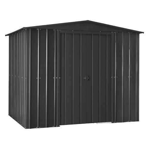 Metal Shed - 8x5 anthracite grey Lotus - Doors Closed