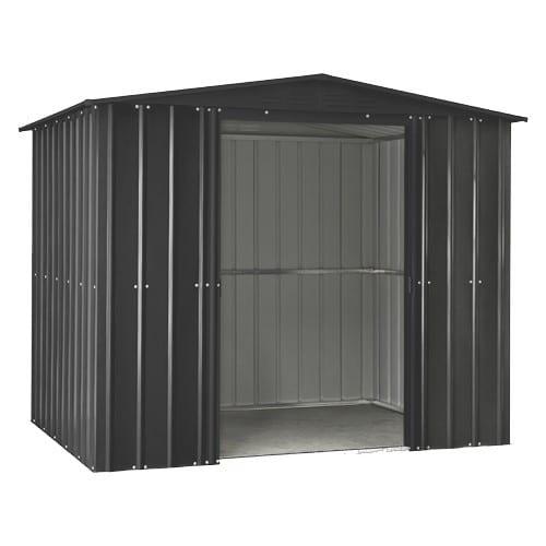 Metal Shed - 8x5 Black Lotus - Doors Open